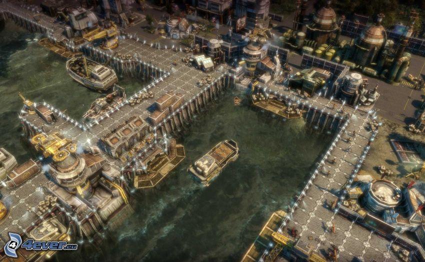 Anno 2070, puerto