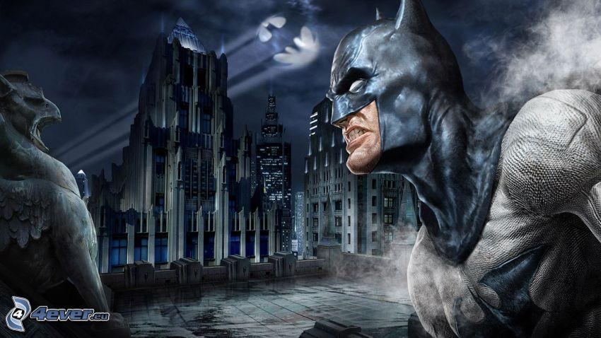 Batman: Arkham City, ciudad de noche