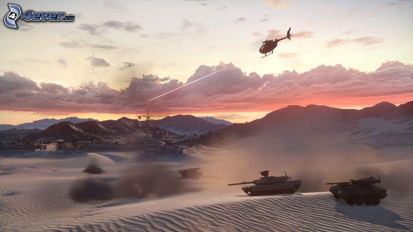 Battlefield 3, desierto, tanques
