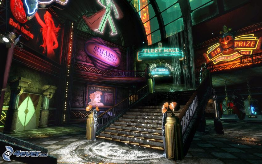 BioShock, escalera
