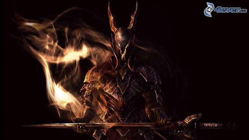 Dark Souls, caballero oscuro, espada