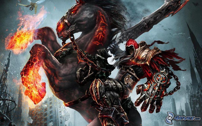 Darksiders, caballo en fuego