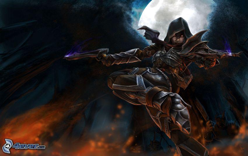 Diablo 3, guerrero oscuro