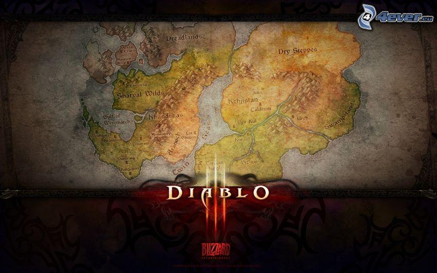 Diablo 3, mapa
