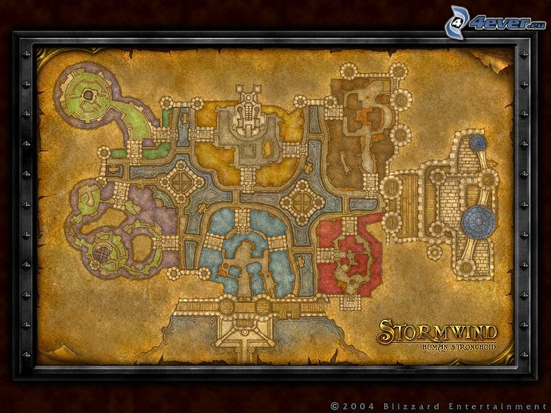 World of Warcraft, mapa