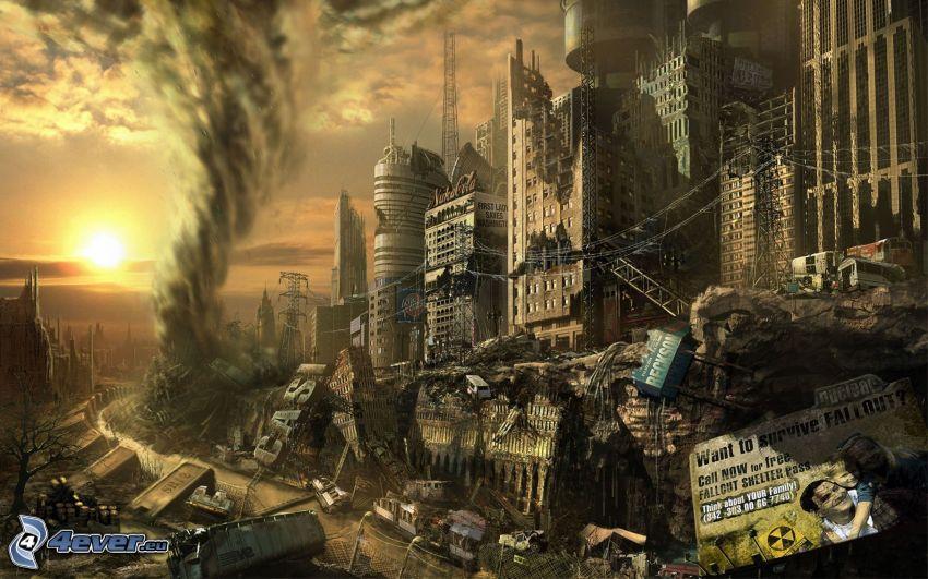 Fallout 4, ciudad post-apocalíptica