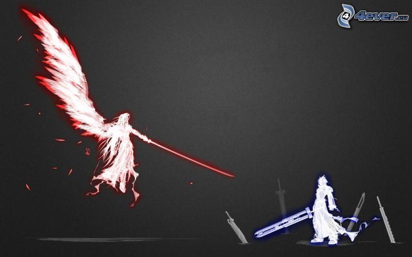 Final Fantasy, luchadores, ángel