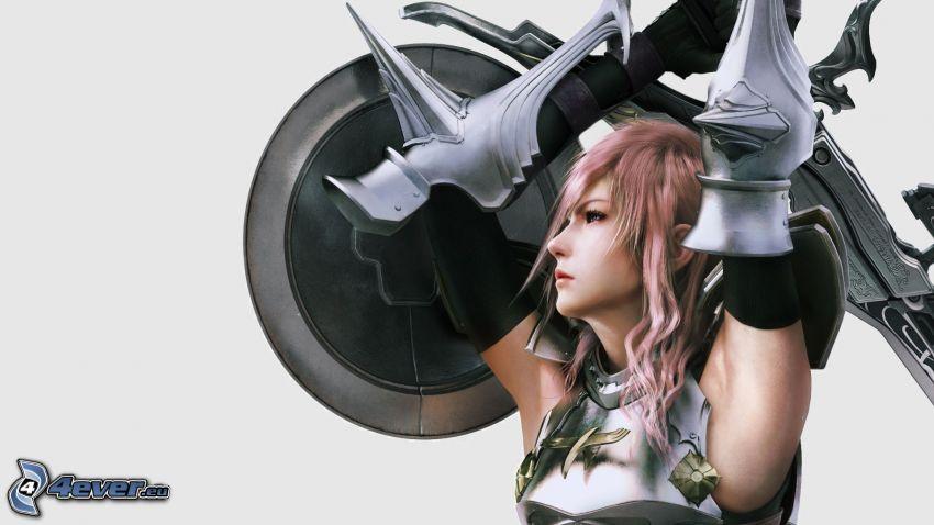 Final Fantasy XIII, guerrera fantástica