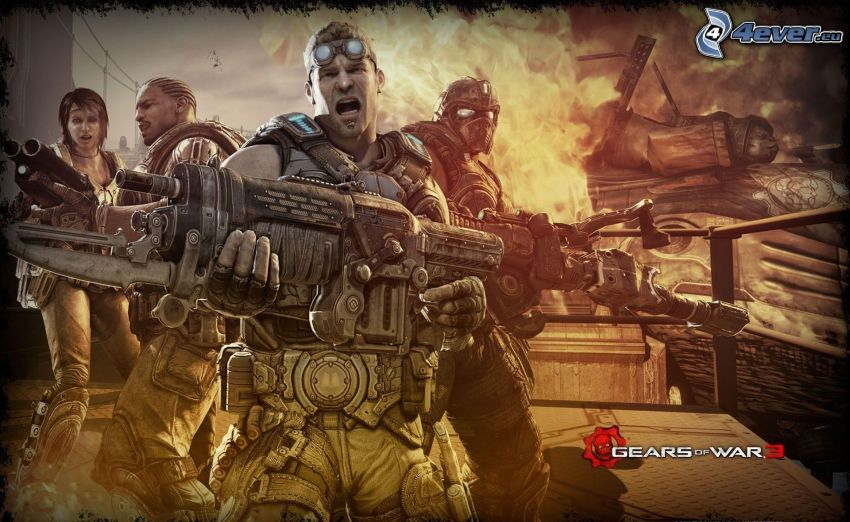 Gears of War 3, soldados