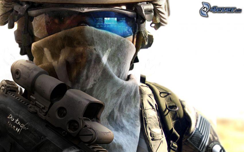 Ghost Recon: Future Soldier, soldado de ciencia ficción