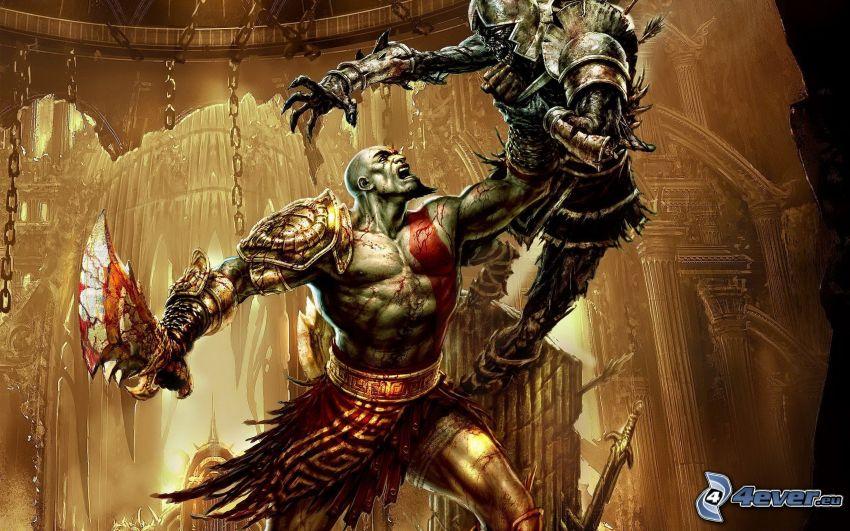 God of War 3, duelo