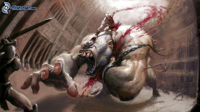 God of War 3, monstruo