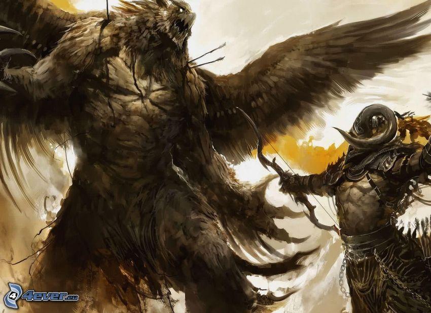 Guild Wars 2, guerreros de fantasia