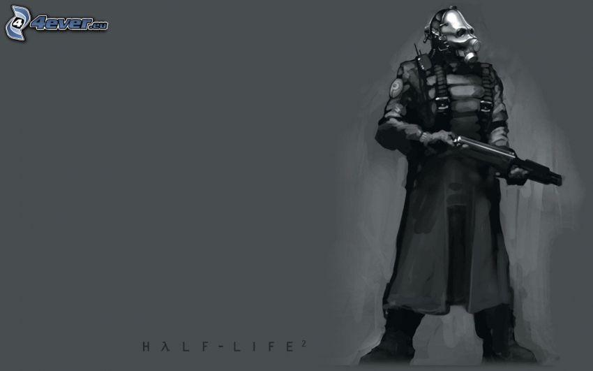 Half-Life 2, hombre en máscara de gas