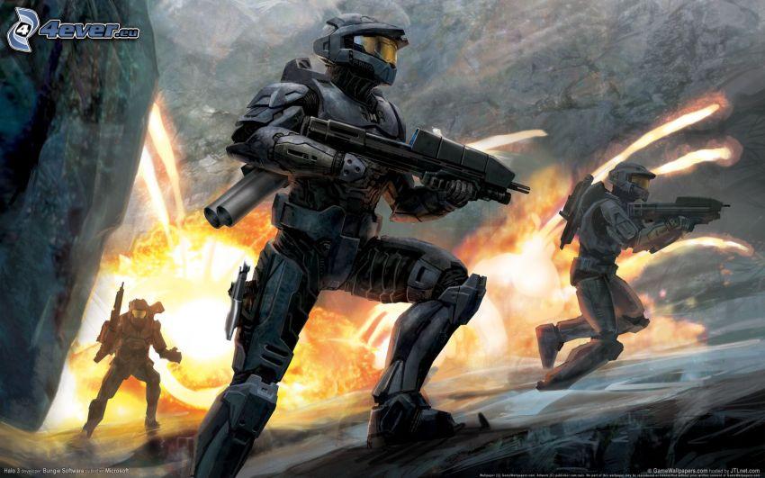Halo, soldados, soldado de ciencia ficción