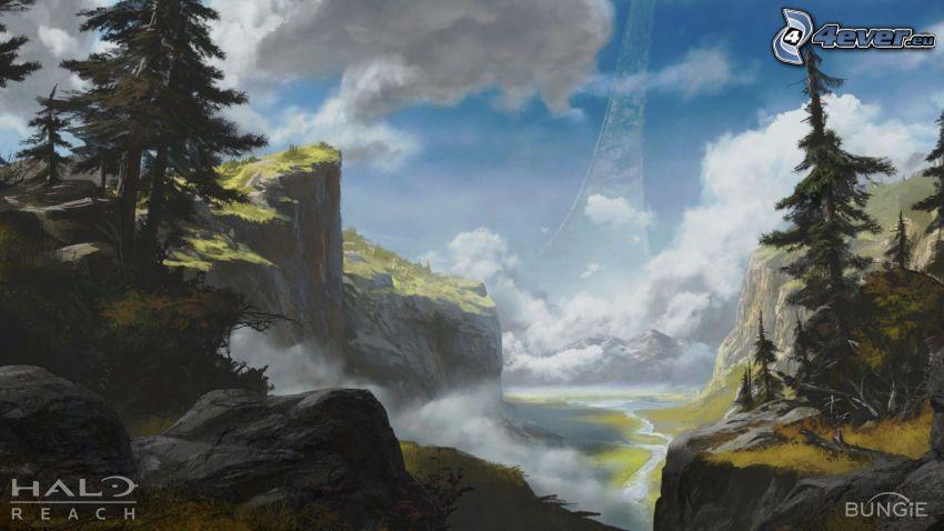 Halo: Reach, paisaje