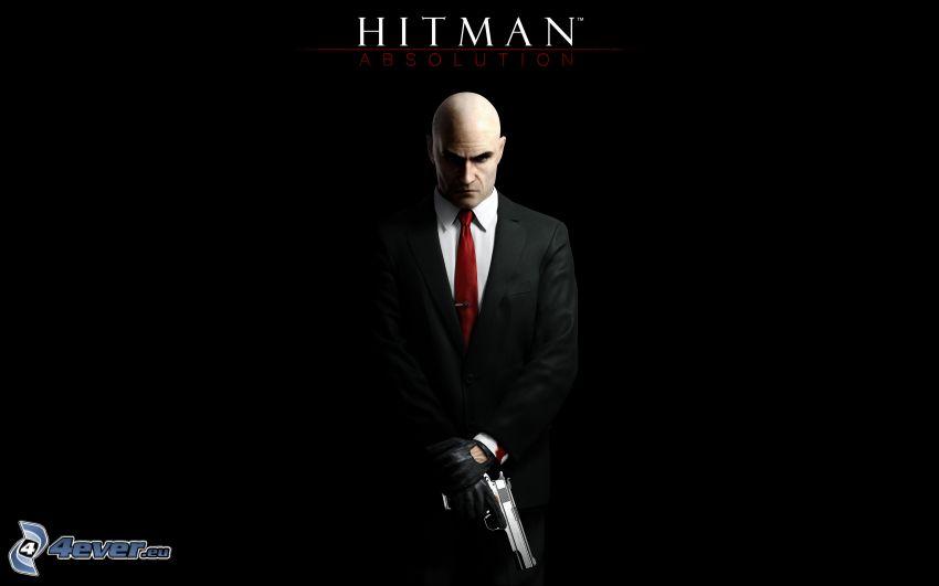 Hitman: Absolution, hombre en traje, hombre con arma