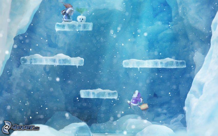 Ice Climber Penguin, hielo, caracteres