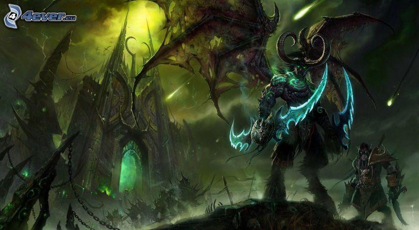 Illidan Stormrage, el castillo encantado, monstruo