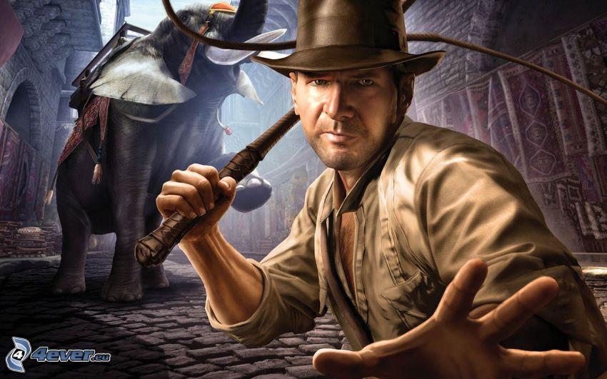 Indiana Jones, elefante