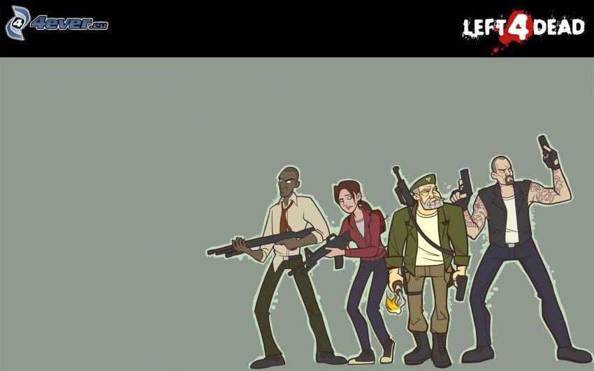 Left 4 Dead, personajes de dibujos animados