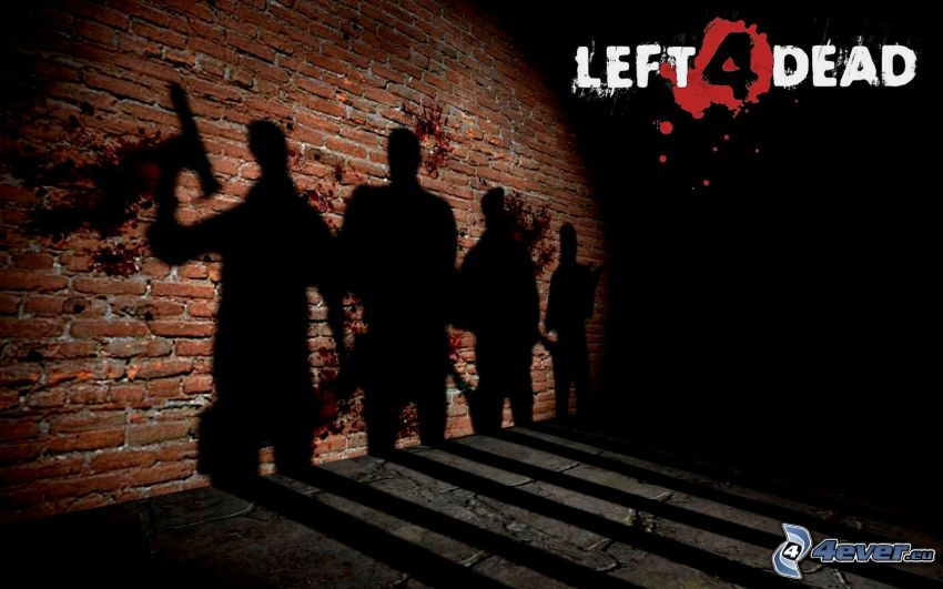 Left 4 Dead, sombra, pared de ladrillo
