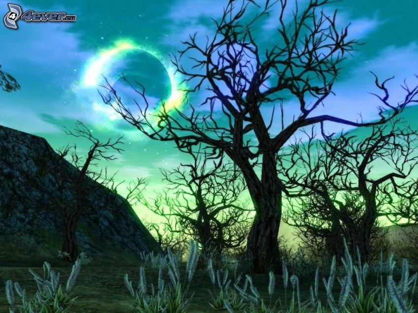Lineage 2, noche, bosque