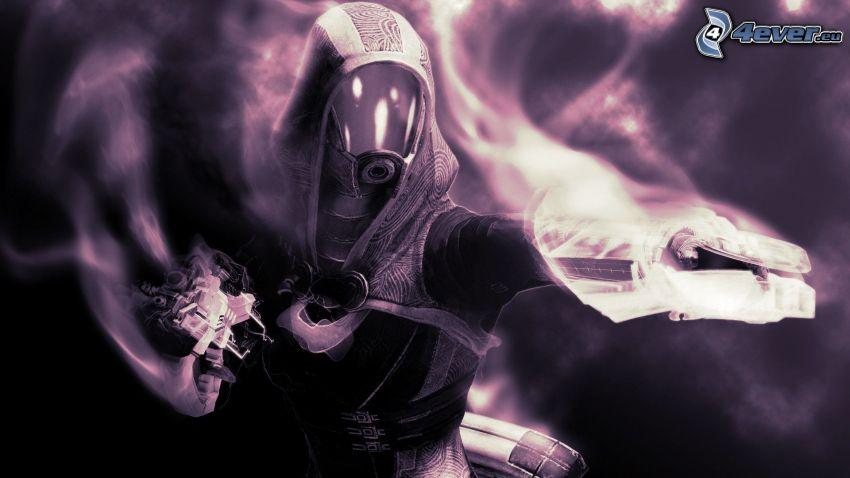 Mass Effect, careta antigás
