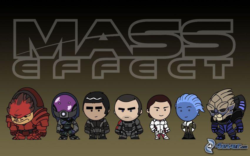 Mass Effect, personajes de dibujos animados