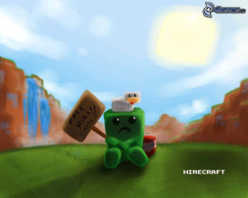 Minecraft, Creeper, Free Hugs