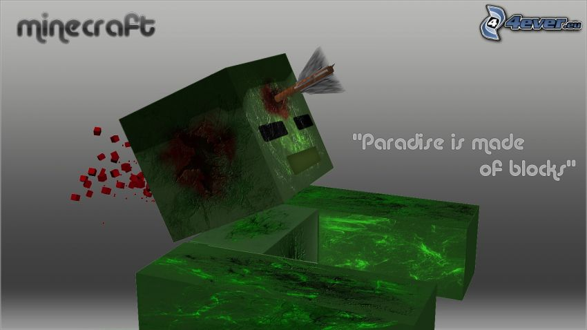 Minecraft, zombie