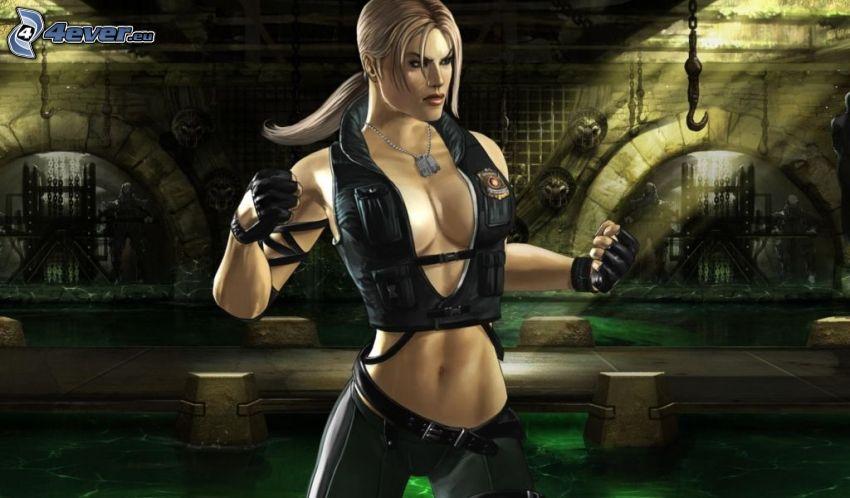 Mortal Kombat, caricatura de mujer