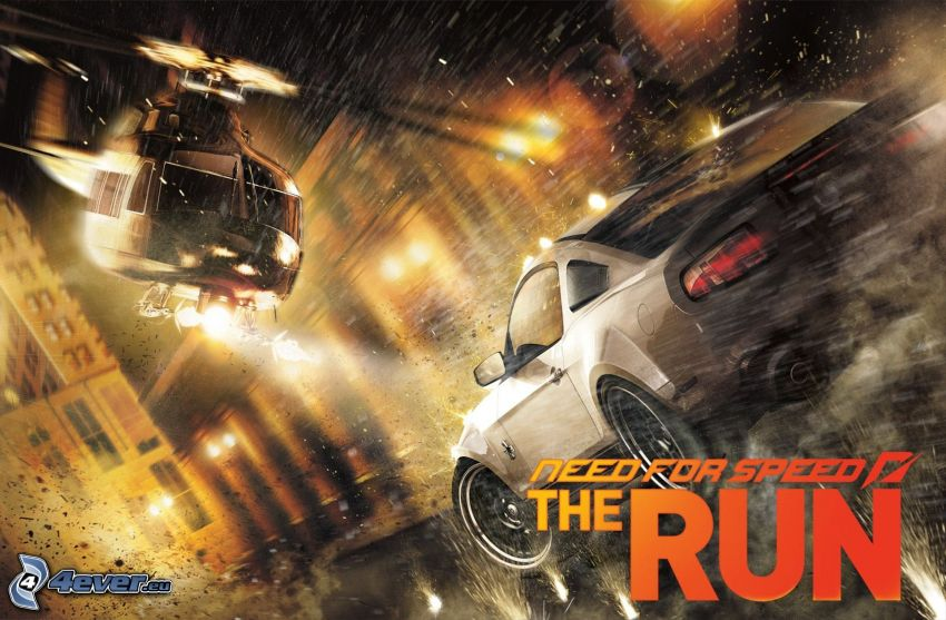 Need For Speed: The Run, Ford Mustang, helicóptero