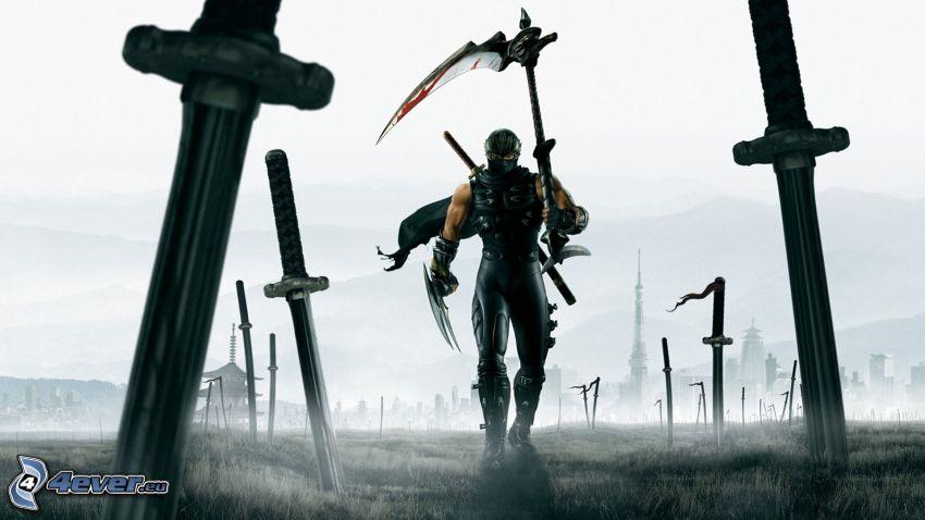 Ninja Gaiden 2, guerrero, espadas