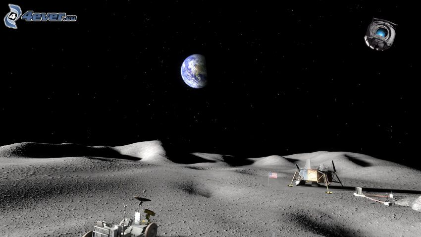 Portal, Tierra, mes, Lunar Roving Vehicle LRV