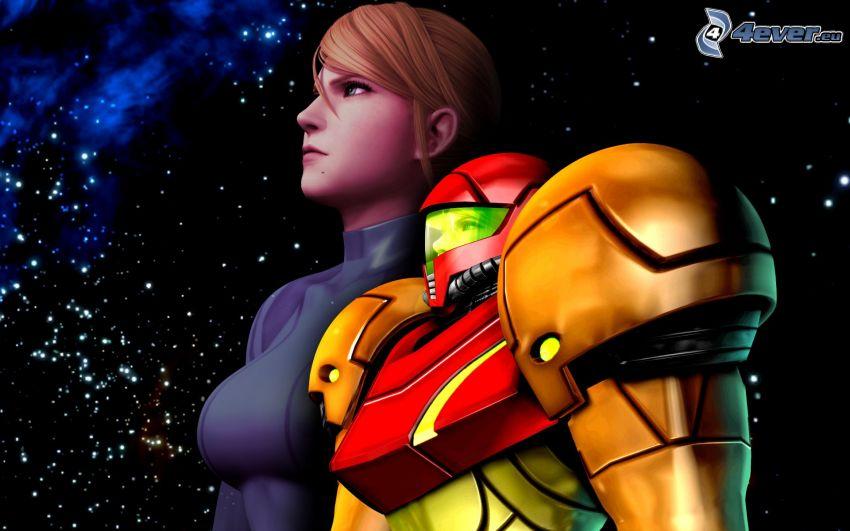 Samus Aran, Metroid, universo