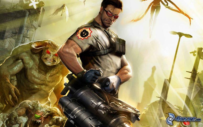Serious Sam 3: BFE, guerrero, monstruo