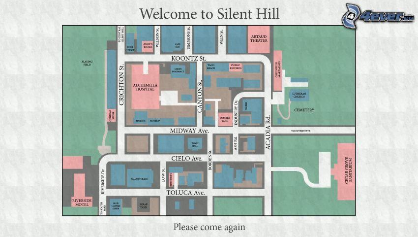 Silent Hill, mapa
