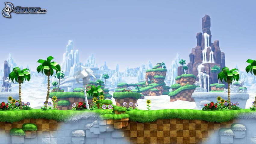 Sonic the Hedgehog, paisaje