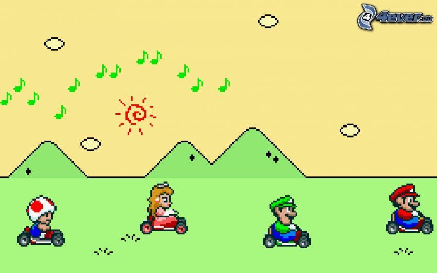 Super Mario, notas de música