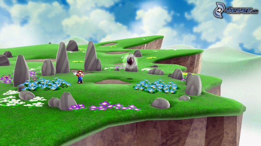 Super Mario, paisaje, arrecife