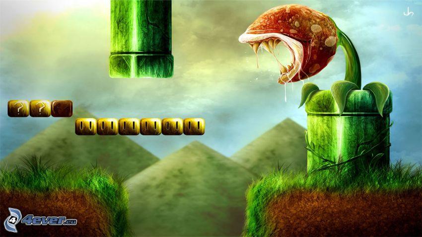 Super Mario, planta carnívora