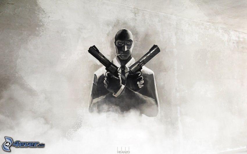 Team Fortress 2, hombre con arma