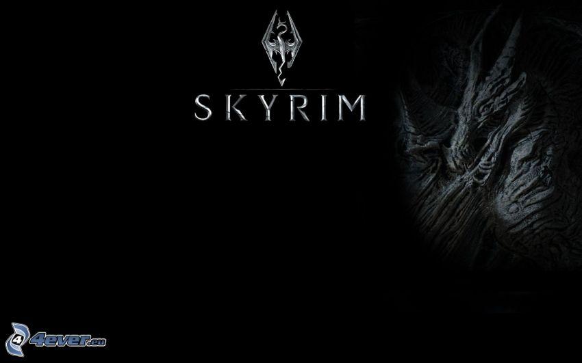 The Elder Scrolls Skyrim, fondo negro