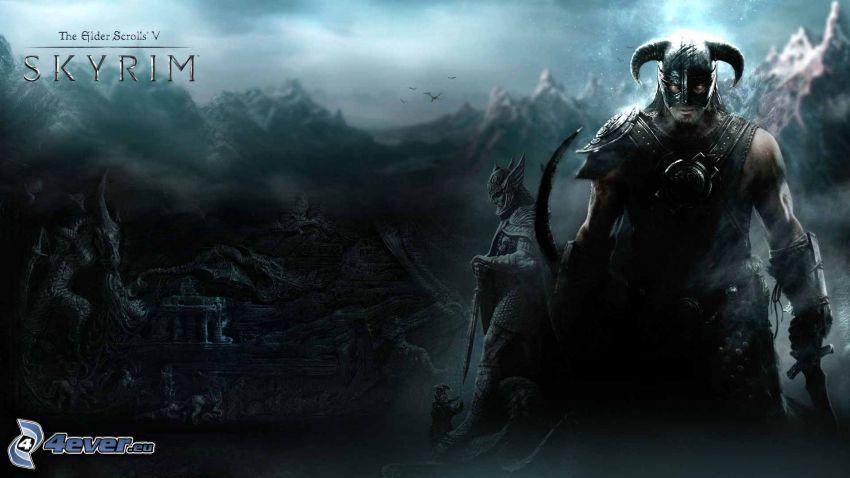 The Elder Scrolls Skyrim, guerrero oscuro