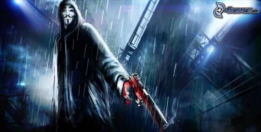 V de Vendetta, asesinato