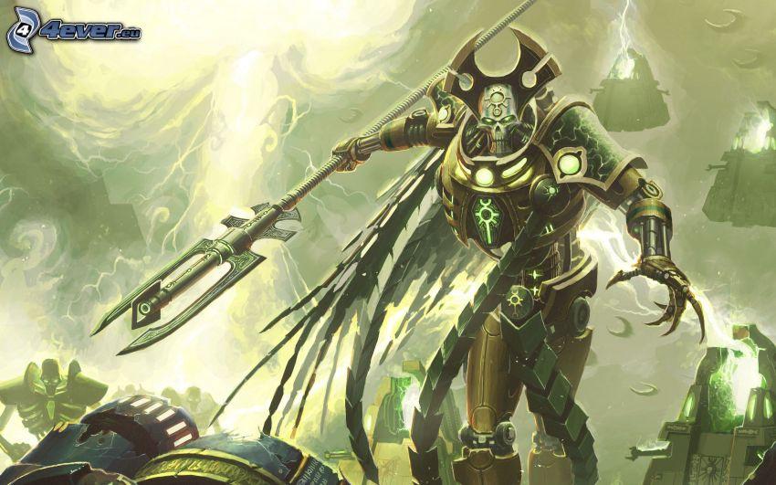 Warhammer, guerrero fantástico, descarnada
