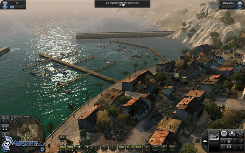 World in Conflict, puerto, mar, ciudad costera