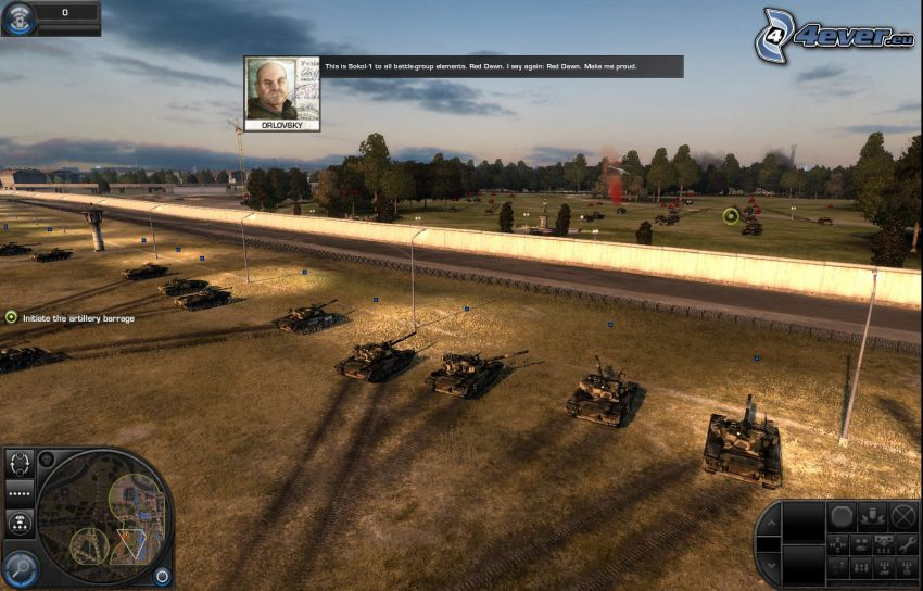 World in Conflict, tanques