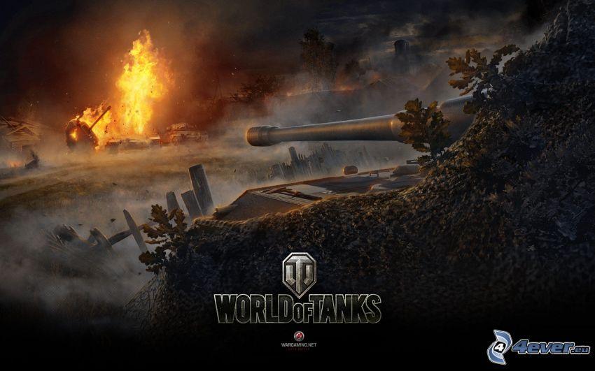 World of Tanks, explosión